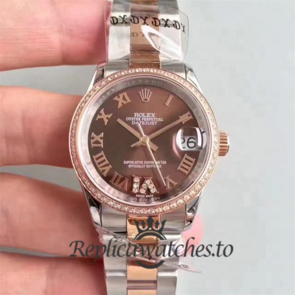 Swiss Rolex Datejust Replica 178341 Stainless Steel 410L and 18K Rose Gold Bracelet 410L Automatic 31 mm