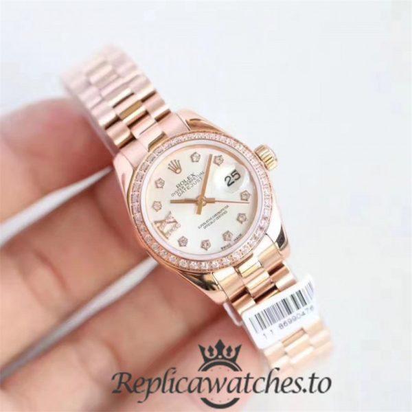 Swiss Rolex Datejust Replica 279135RBRS 002 18K Rose Gold Automatic 28mm