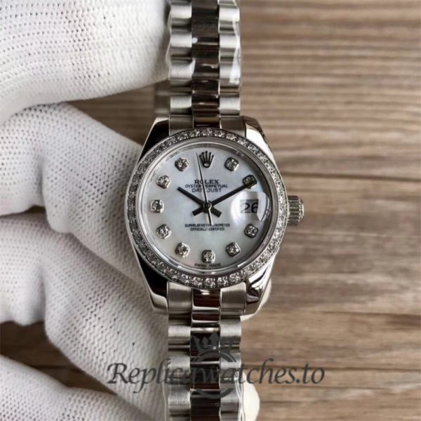 Swiss Rolex Datejust Replica 279136RBR 002 Stainless Steel 410L Bracelet Automatic 28mm