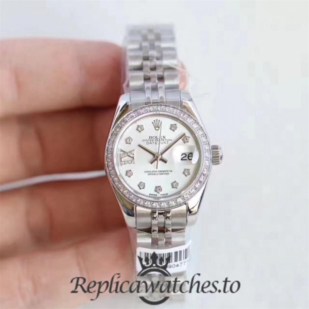 Swiss Rolex Datejust Replica 279136RBR 003 Stainless Steel 410L Bracelet Automatic 28mm