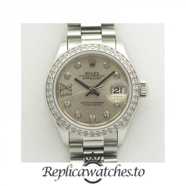 Swiss Rolex Datejust Replica 279136RBR 005 Stainless Steel 410L Bracelet Automatic 28mm