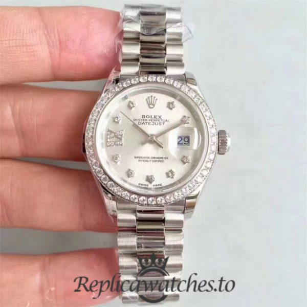 Swiss Rolex Datejust Replica 279136RBR 006 Stainless Steel 410L Bracelet Automatic 28MM