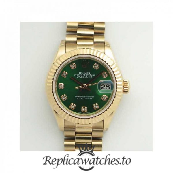 Swiss Rolex Datejust Replica 279165 001 18K Rose Gold Bracelet Automatic 28mm