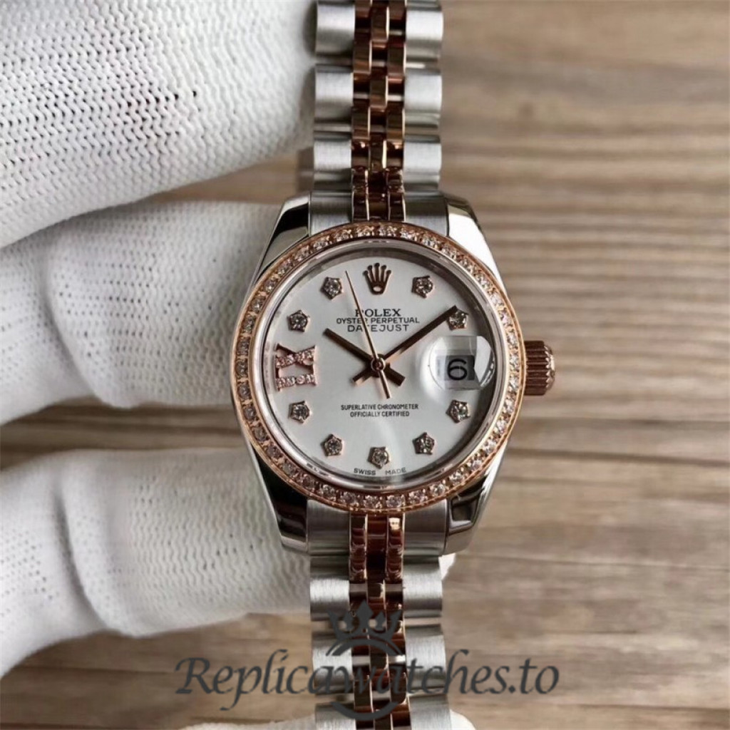 Swiss Rolex Datejust Replica 279381RBR 003 Stainless Steel 410L and 18K Rose Gold Bracelet Automatic 28MM
