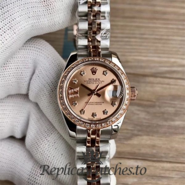 Swiss Rolex Datejust Replica 279381RBR Stainless Steel 410L And 18K Rose Gold Automatic 31MM