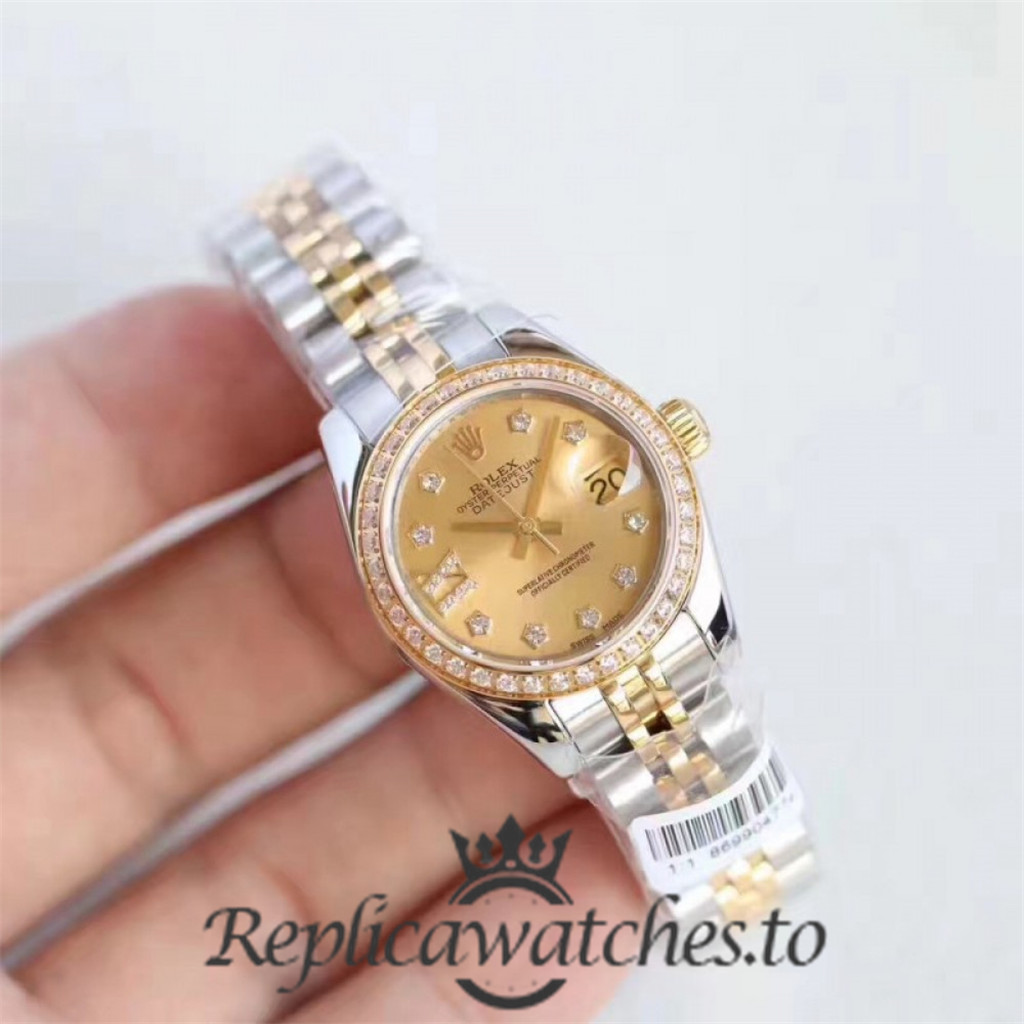 Swiss Rolex Datejust Replica 279383RBR 001 Stainless Steel 410L and 18K Yellow Gold Automatic 28MM