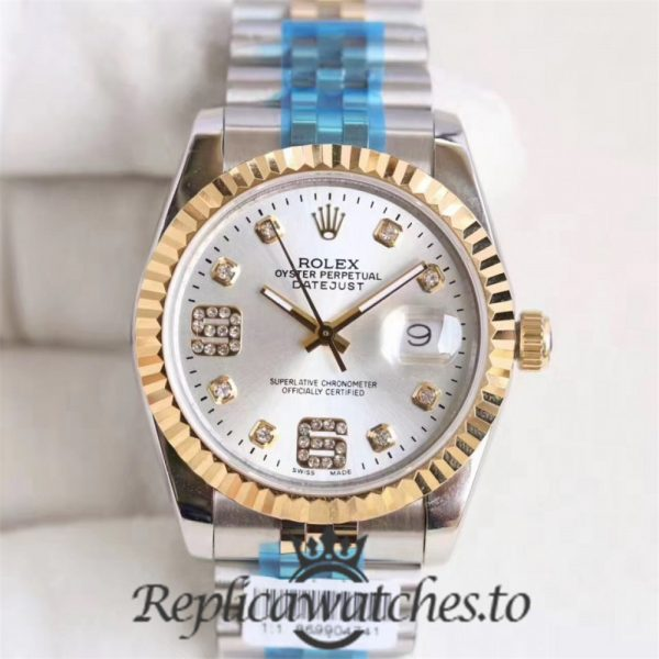 Swiss Rolex Datejust Replica 116233 011 Stainless Steel 410L and 18K Yellow Gold Bracelet Automatic 36MM