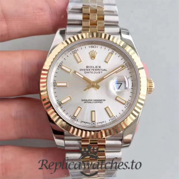 Swiss Rolex Datejust Replica 116333 031 Stainless Steel 410L and 18K Yellow Gold Bracelet Automatic 41MM