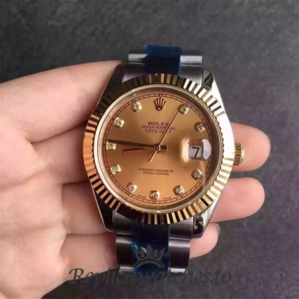 Swiss Rolex Datejust Replica 116333 034 Stainless Steel 410L and 18K Yellow Gold Bracelet Automatic 41MM