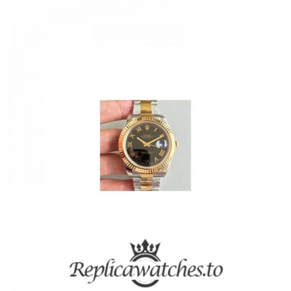 Swiss Rolex Datejust Replica 116333 037 Stainless Steel 410L and 18K Yellow Gold Bracelet Automatic 41MM