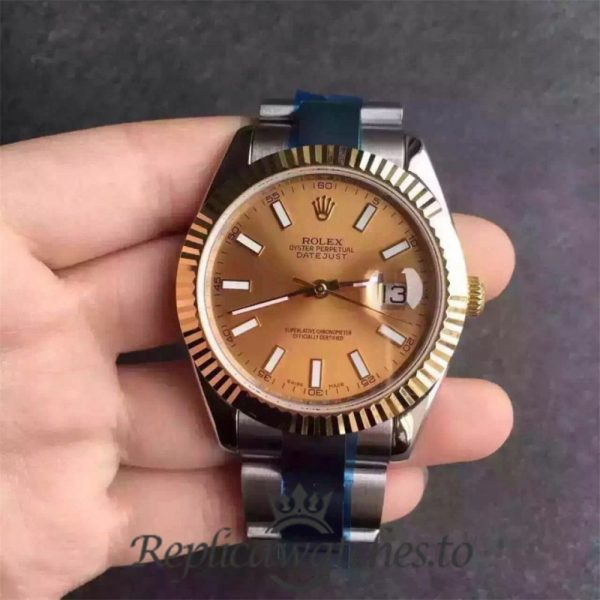 Swiss Rolex Datejust Replica 116333 038 Stainless Steel 410L and 18K Yellow Gold Bracelet Automatic 41MM