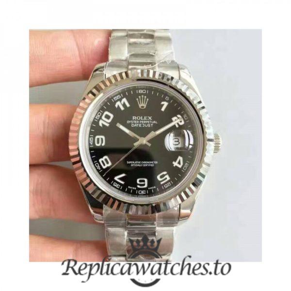 Swiss Rolex Datejust Replica 116334 010 Stainless Steel 410L Bracelet Automatic 41MM