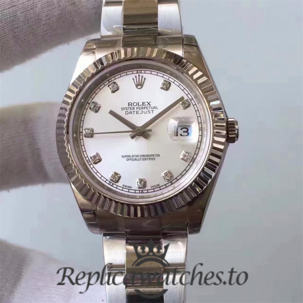 Swiss Rolex Datejust Replica 116334 015 Stainless Steel 410L Bracelet Automatic 41MM