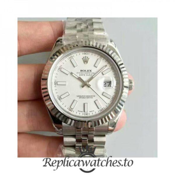 Swiss Rolex Datejust Replica 116334 017 Stainless Steel 410L Bracelet Automatic 41MM