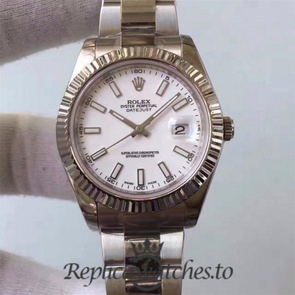 Swiss Rolex Datejust Replica 116334 018 Stainless Steel 410L Bracelet Automatic 41MM