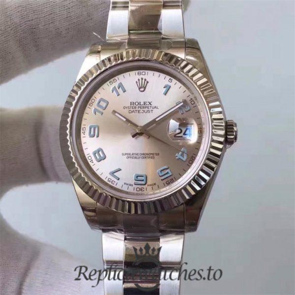 Swiss Rolex Datejust Replica 116334 020 Stainless Steel 410L Bracelet Automatic 41MM