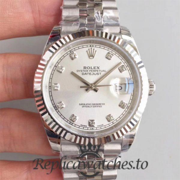 Swiss Rolex Datejust Replica 126334 025 Stainless Steel 410L Bracelet Automatic 41MM