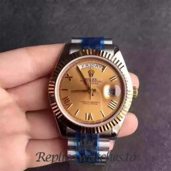 Swiss Rolex Day-Date Replica 116233 013 Stainless Steel 410L and 18K Yellow Gold Automatic 36MM