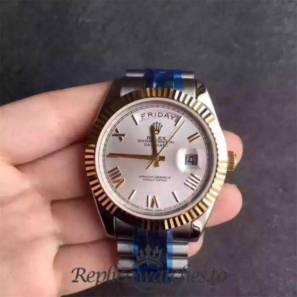 Swiss Rolex Day-Date Replica 116233 014 Stainless Steel 410L and 18K Yellow Gold Automatic 36MM