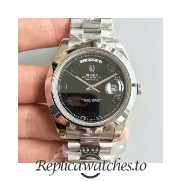 Swiss Rolex Day-Date Replica 218206 Stainless Steel 410L Bracelet Automatic 41MM
