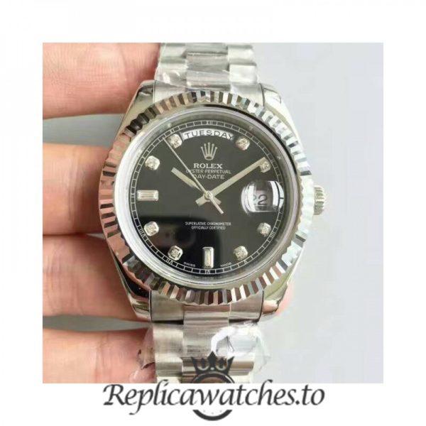 Swiss Rolex Day-Date Replica 218239 001 Stainless Steel 410L Bracelet Automatic 41MM