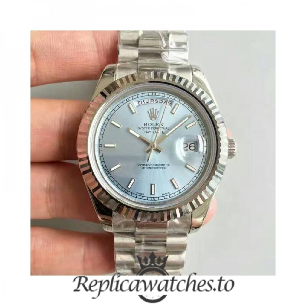 Swiss Rolex Day-Date Replica 218239 005 Stainless Steel 410L Automatic 41MM