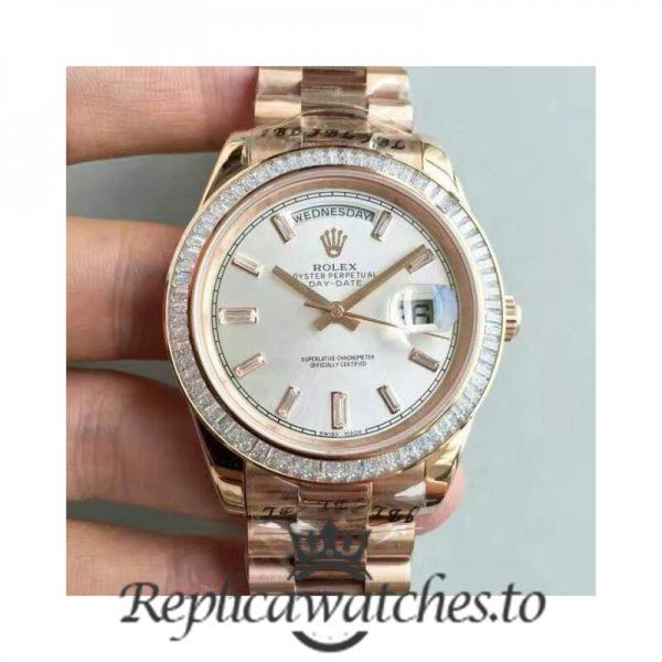 Swiss Rolex Day-Date Replica 228235 010 18K Rose Gold Automatic 40MM