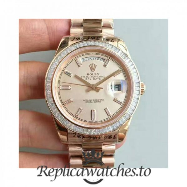 Swiss Rolex Day-Date Replica 228235 011 Stainless 18K Rose Gold Automatic 40MM