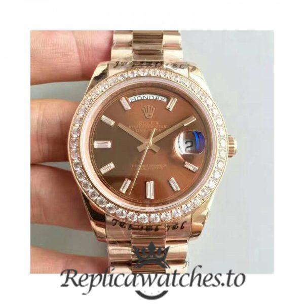 Swiss Rolex Day-Date Replica 228235 015 18K Rose Gold Automatic 40MM
