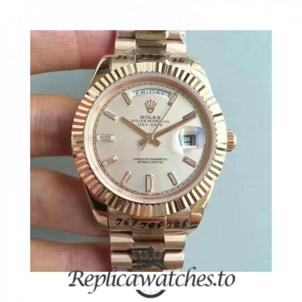 Swiss Rolex Day-Date Replica 228235 016 18K Rose Gold Automatic 40MM