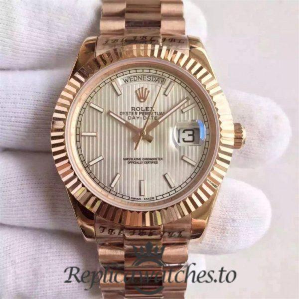 Swiss Rolex Day-Date Replica 228235 017 18K Rose Gold Automatic 40MM