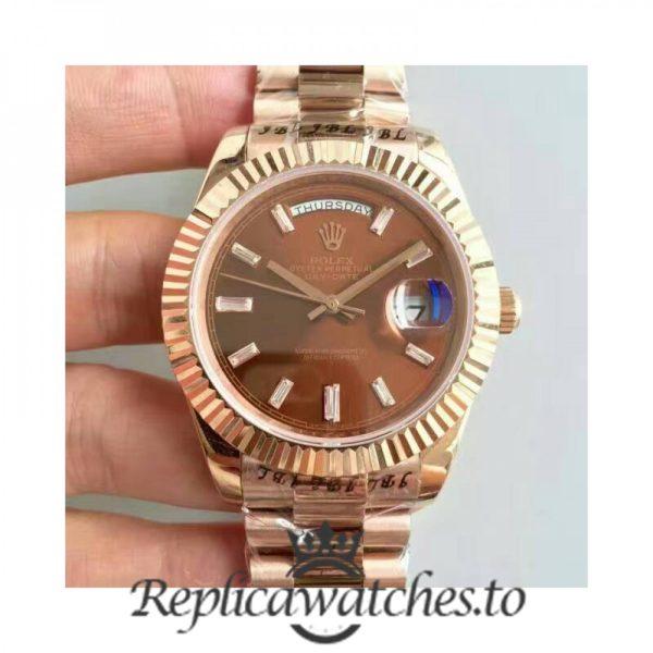 Swiss Rolex Day-Date Replica 228235 018 18K Rose Gold Automatic 40MM