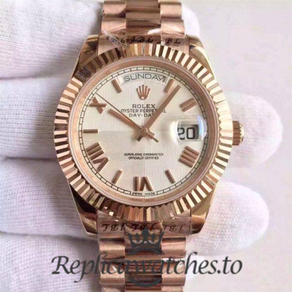 Swiss Rolex Day-Date Replica 228235 019 18K Rose Gold Automatic 40MM