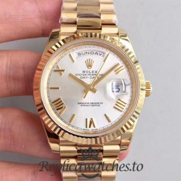 Swiss Rolex Day-Date Replica 228238 002 18K Yellow Gold Bracelet Automatic 40MM
