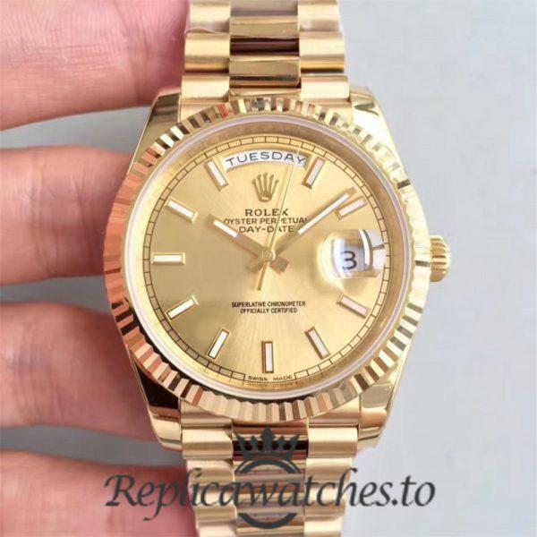 Swiss Rolex Day-Date Replica 228238 003 18K Yellow Gold Bracelet Automatic 40MM