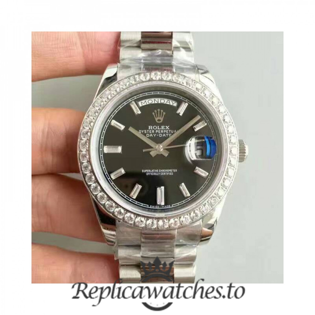 Swiss Rolex Day-Date Replica 228349RBR Stainless Steel 410L Bracelet Automatic 40MM