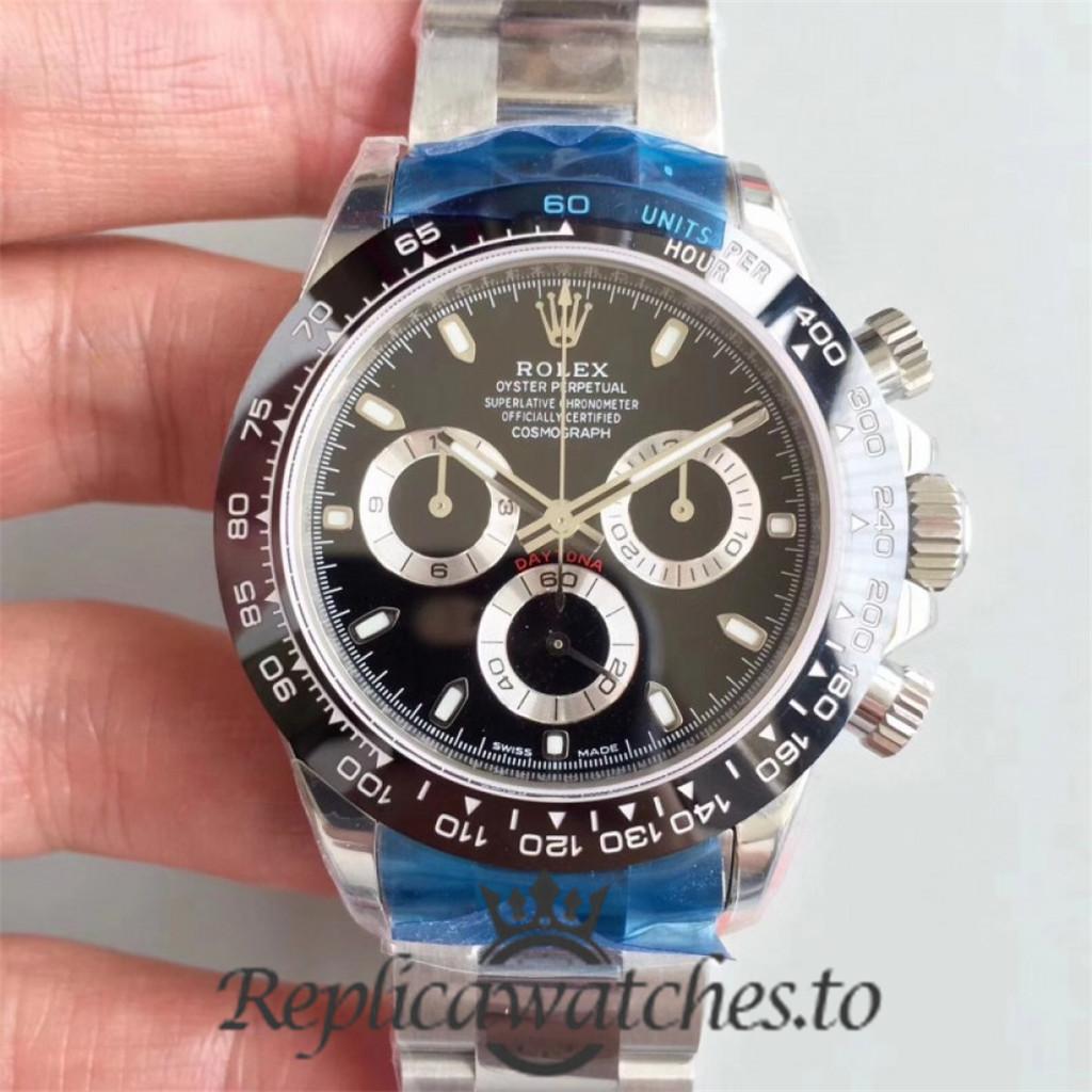 Swiss Rolex Daytona Replica 116500LN 001 Stainless Steel 410L Automatic 40 mm x 12.5 mm