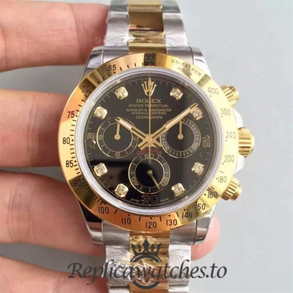 Swiss Rolex Daytona Replica 116503 002 18K Yellow Gold and Stainless Steel 410L Automatic 40 mm
