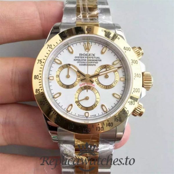 Swiss Rolex Daytona Replica 116503 009 Stainless Steel 410L and 18K Yellow Gold Automatic 40 mm