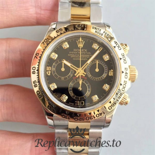 Swiss Rolex Daytona Replica 116503 012 18K Yellow Gold Wrapped and Stainless Steel 904L Automatic 40 mm