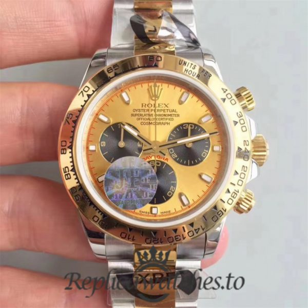 Swiss Rolex Daytona Replica 116503 015 Stainless Steel 410L and 18K Yellow Gold Automatic 40 mm