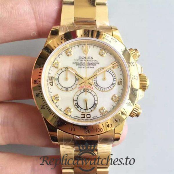 Swiss Rolex Daytona Replica 116508 003 18K Yellow Gold Automatic 40 mm
