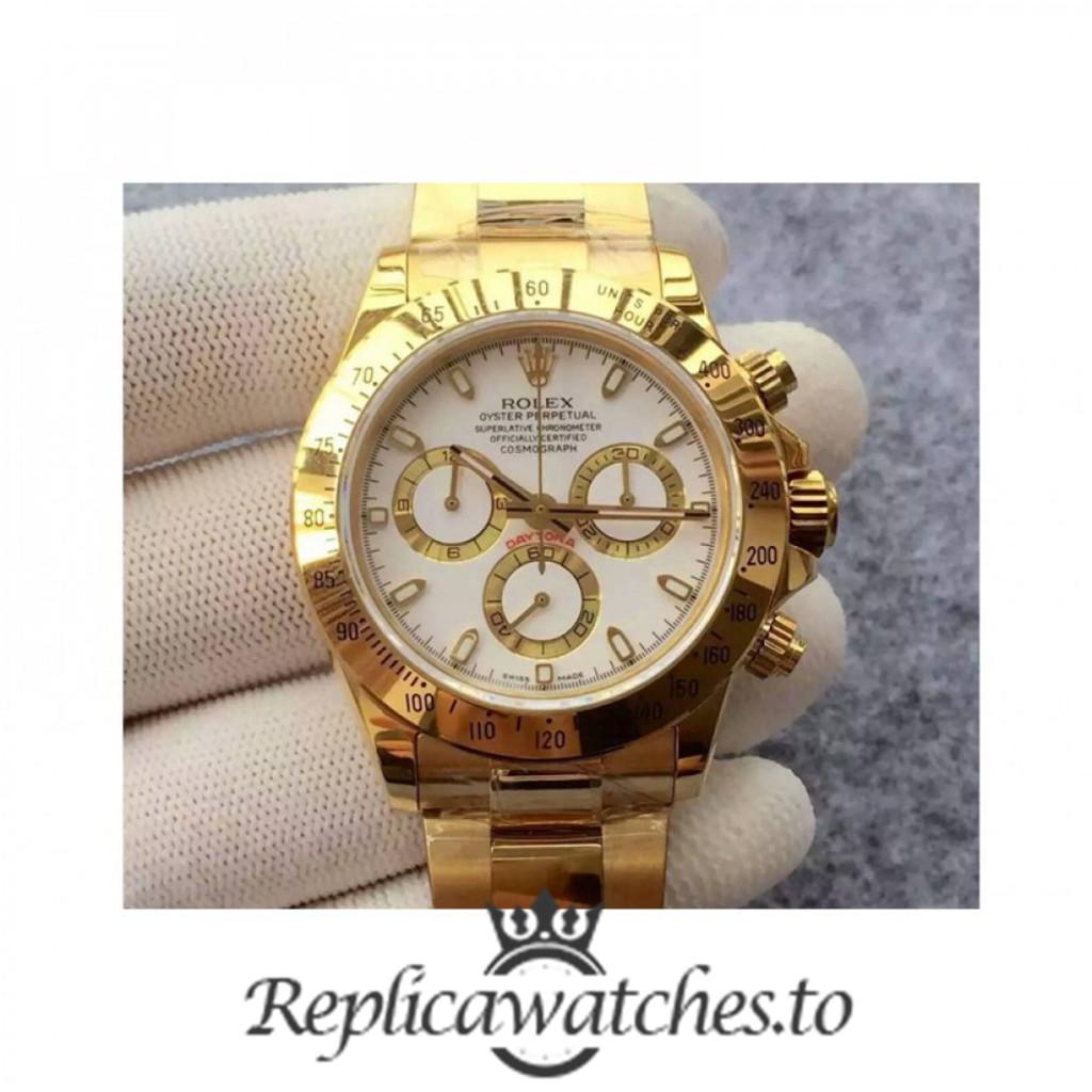 Swiss Rolex Daytona Replica 116508 006 18K Yellow Gold Automatic 40 mm