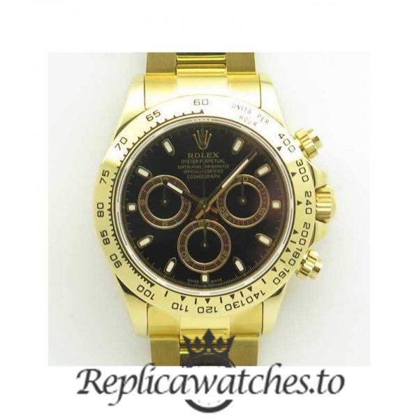 Swiss Rolex Daytona Replica 116508 008 18K Yellow Gold Automatic 40 mm