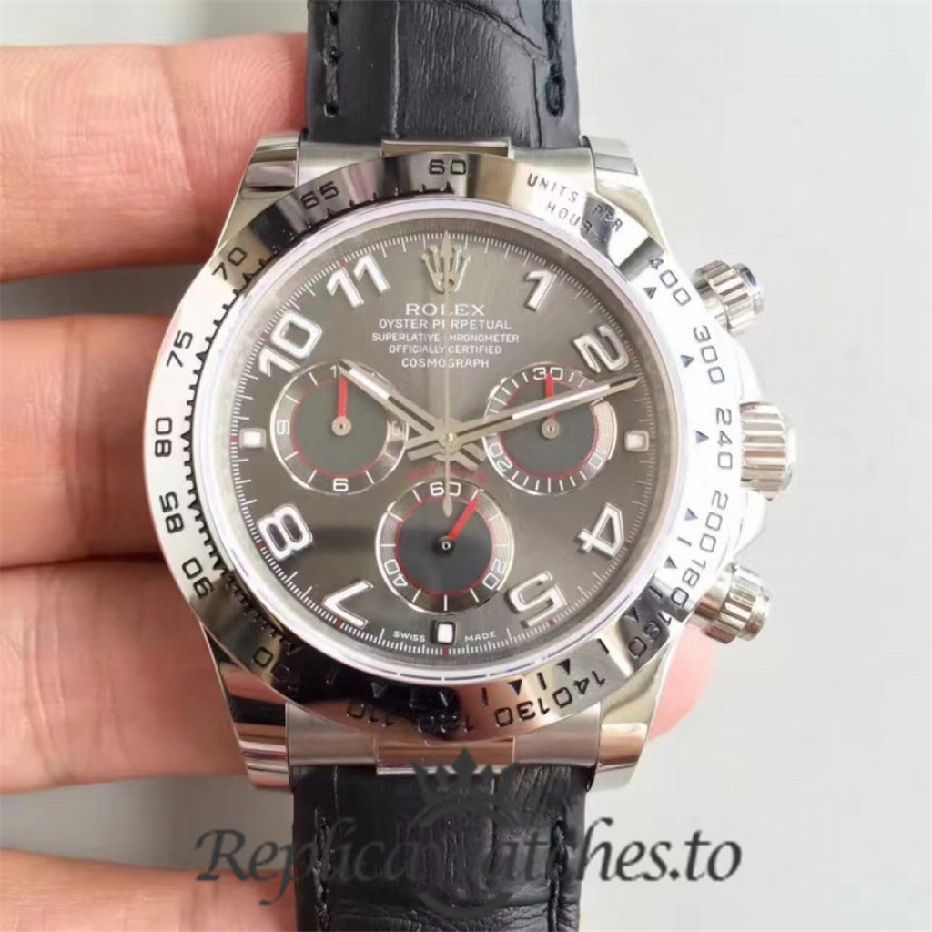 Swiss Rolex Daytona Replica 116509 003 Black Rubber Automatic 40 mm