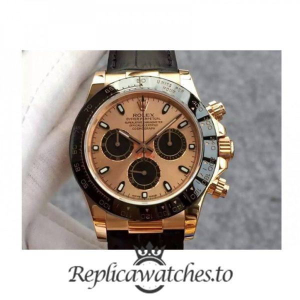 Swiss Rolex Daytona Replica 116515 006 Black Leather Automatic 40 mm