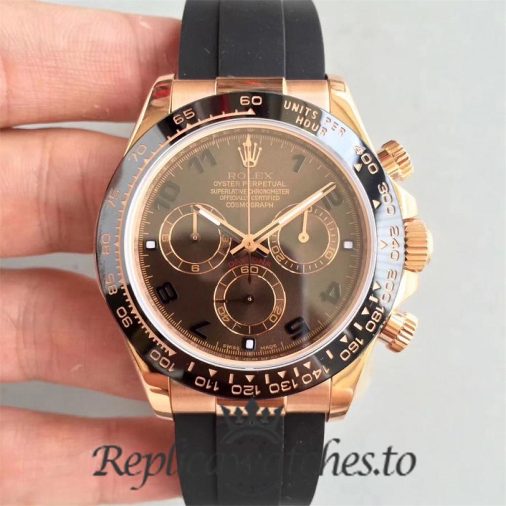 Swiss Rolex Daytona Replica 116515LN 001 Black Rubber Automatic 40 mm x 13 mm
