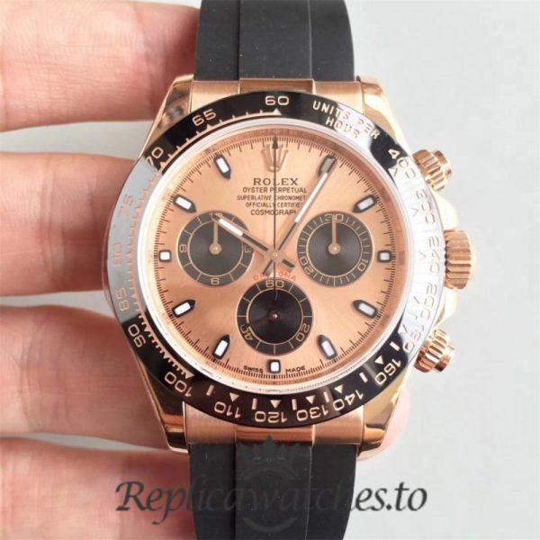 Swiss Rolex Daytona Replica 116515LN 005 Black Rubber Automatic 40 mm x 13 mm