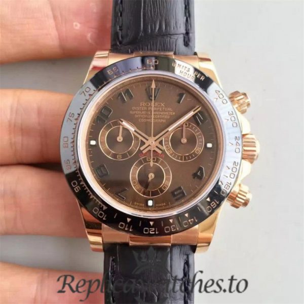 Swiss Rolex Daytona Replica 116515LN 010 Black Rubber Automatic 40 mm