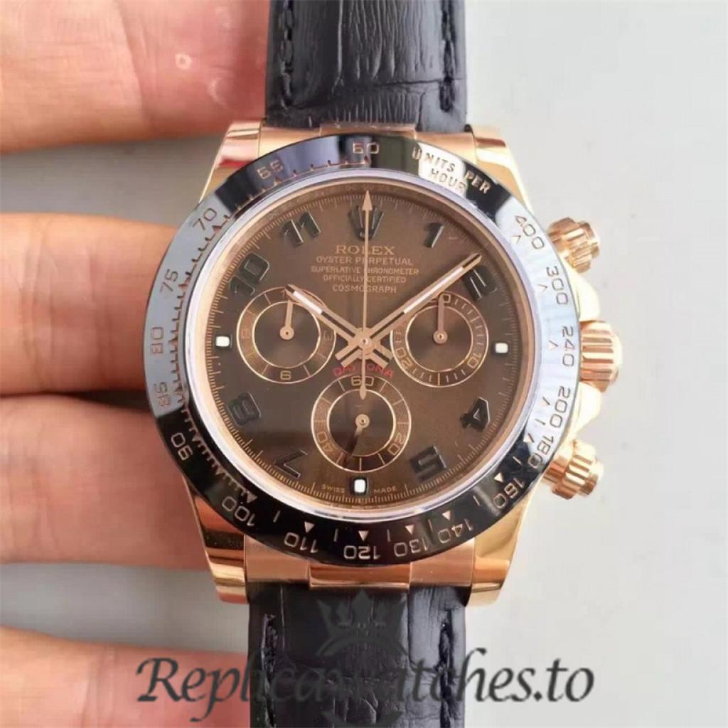 Swiss Rolex Daytona Replica 116515LN 010 Black Rubber Automatic 40 mm